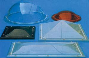 Cupole trasparenti in plexiglass